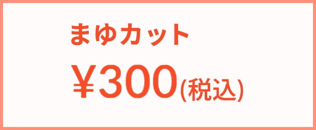 まゆカット : 300円(税込)